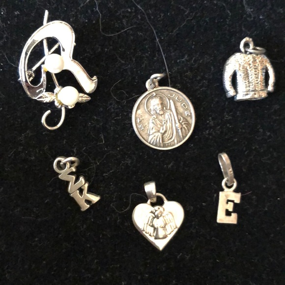 Jewelry - Sterling silver charms and pin